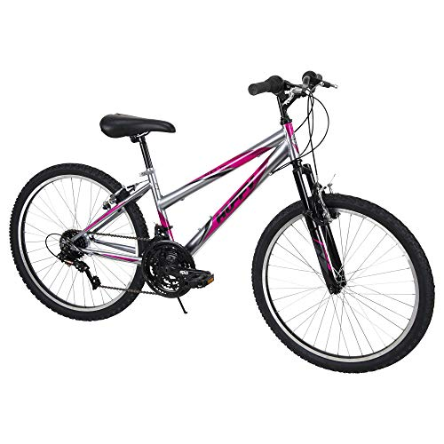 Huffy Mountain Bike Girls Incline 24-inch Bicycle, Pink