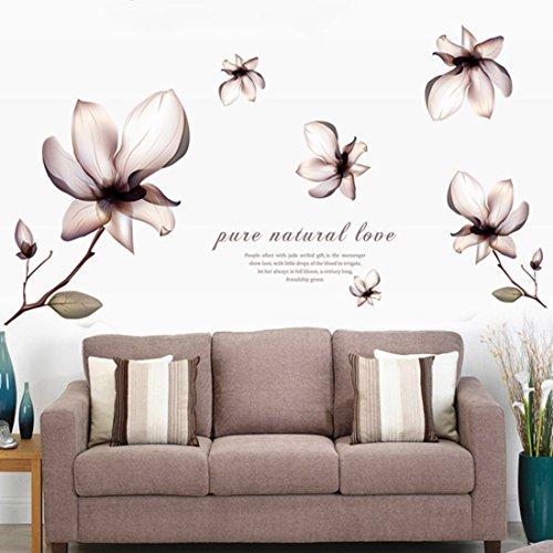 Fashionbeautybuy - Adesivi da parete in vinile rimovibile, con lettere inglesi, farfalle