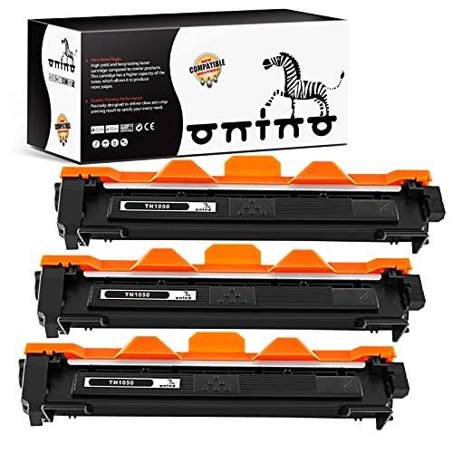 ONINO TN1050 Toner Kompatibel für Brother TN-1050 TN 1050 für Brother DCP-1510 DCP-1512 DCP-1610w DCP-1612 MFC-1810 MFC-1910 W HL-1110 HL-1112A (3pcs)