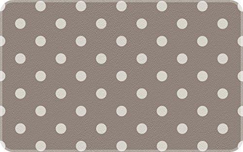 ID matte decoratie, gestippeld, taupe/wit, keuken, kunstvezel, grijs, 50 x 80 x 0,4 cm