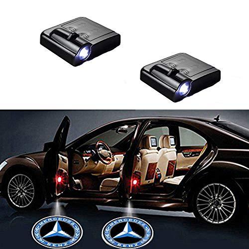 MIVISO 2 Stück Autotür Einstiegsbeleuchtung Projektion Türeinstiegbeleuchtung Logo Licht Willkommen Projektor Geist Schatten Lampe für Auto