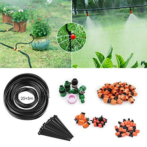 FIXKIT 30M Automatik Micro Drip Bewässerung Kit, Bewässerungssystem, geeignet für Gartenbewässerung und DIY, mit automatischem Sprinkler