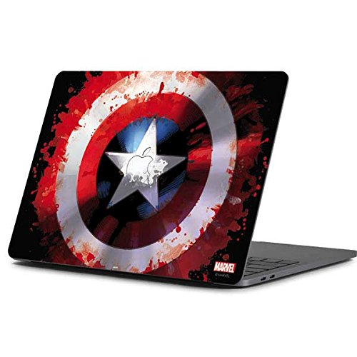 Skinit Decal Laptop Skin Compatible with MacBook Pro 13-inch (2016-17) - Officially Licensed Marvel/Disney Captain America Shield Design