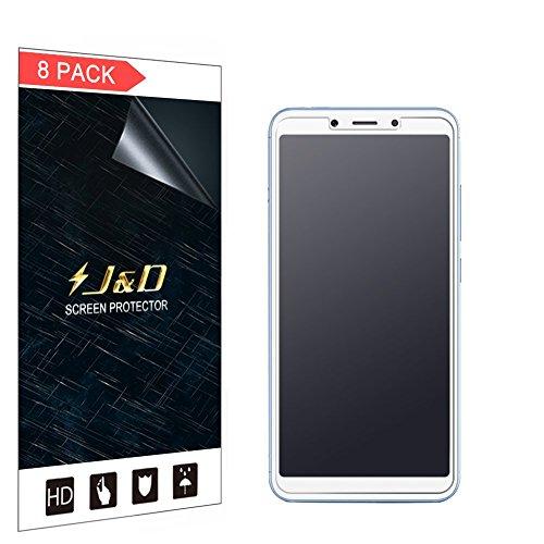 JundD Kompatibel für 8er Packung Redmi 6/Redmi 6A Bildschirmschutzfolie, [Antireflektierend] [Anti Fingerabdruck] [Nicht Ganze Deckung] Matte Folie Schutzschild Bildschirmschutzfolie für Xiaomi Redmi 6