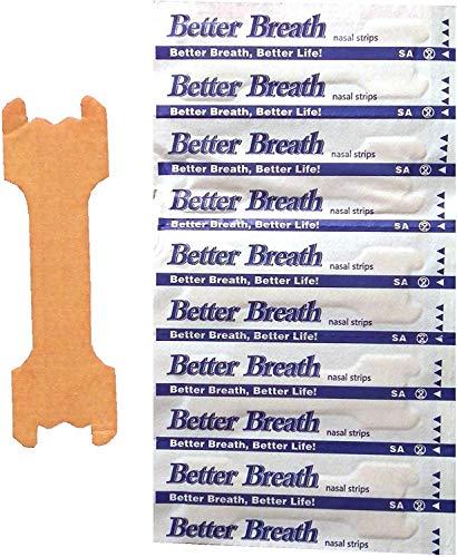 Nasenpflaster Premium - Groß (Large) - Sunglow Better Breath - gegen Schnarchen (100 Stück)