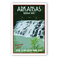 ARKANSAS TRAVEL POSTER postcard set of 20 identical postcards. AR state vintage style travel poster post cards. Made in USA. [並行輸入品]