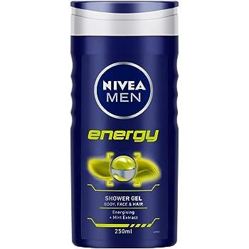NIVEA Men Shower Gel, Energy Body Wash, 250ml