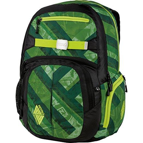 Nitro Hero Sac à dos - 23 x 38 x 52 cm, 37 L - Vert - Wicked Green, 23 x 38 x 52 cm, 37 L