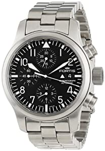 Fortis Men's 656.10.11 M B-42 Flieger Automatic Stainless-Steel Automatic Chronograph Date Watch image