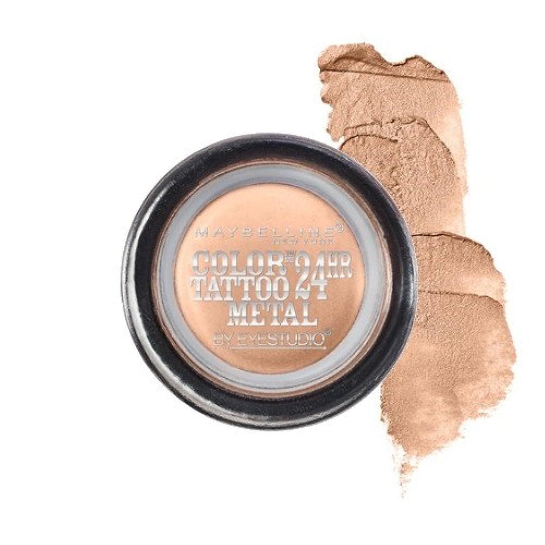 評判教科書求める(3 Pack) MAYBELLINE Eye Studio Color Tatoo Metal 24Hr Cream Gel Eye Shadow - Barely Branded (並行輸入品)