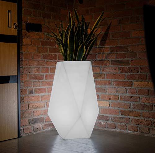 LED Blumentopf Volcano Indoor / Outdoor XXL - Pflanzentopf mit Beleuchtung ideal für Pflanzen Innen und Außen – Blumenkübel - Pflanzenkübel – Raumteiler im Haus oder Hochbeet im Garten