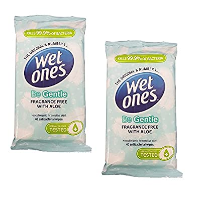 Wet Ones 'Be Gentle' Antibacterial Wipes with Aloe (80 wipes) by Wet Ones