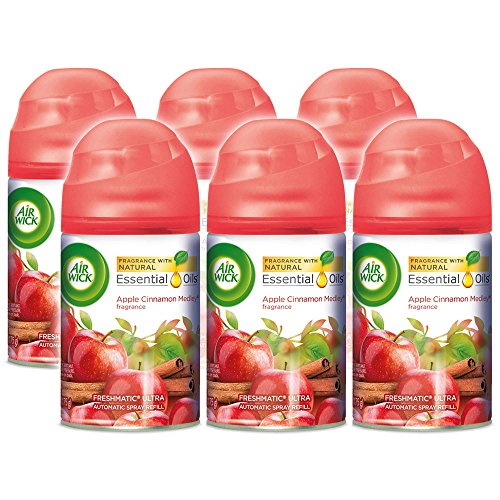 Air Wick Freshmatic 6 Refills Automatic Spray, Apple Cinnamon Medley, 5.89 Ounce (Pack of 6)