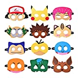 000 Máscara de Pikachu Máscara de Decoración Pikachu Fiesta Máscaras Pikachu Máscaras de Fiesta de Cumpleaños Pikachu Fiesta de Halloween