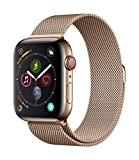 Apple Watch Series 4 GPS + Cellular, 44mm Aluminiumgehäuse, Gold, mit Sport Loop, sandrosa