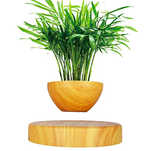 Levitación magnética Flotante Suspensión Pot Decoración Ninguna Planta Creativa levitante Aire Bonsai Pot rotación Tiesto plantadores