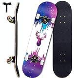 Sumeber Skateboards 31 Zoll Double Kick Erwachsene Tricks...