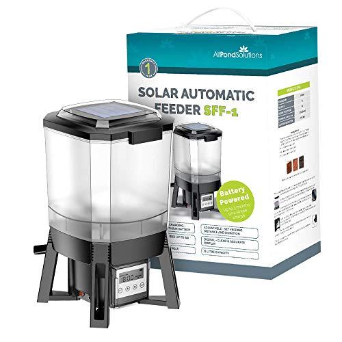 allpondsolutions Solar Powered Automatic Digital Timer Pond Fish Food Feeder...