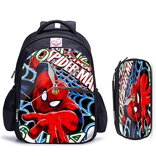 Csfssd 16 Zoll Spinnen orthopädische Kinderschultaschen Rucksack mit Ihren Logo Namen Karikaturbildern der Kinder Schultaschen Jungen Campings angepasst werden kann, in der Schule, Reisen, Wandern for