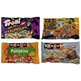 Brachs Candy Corn Seasonal Halloween Candy Variety Pack Bundle - Trolli Sour Brite, Bello Candy Corn, Mellowcreme Pumpkins, and Turkey Dinner with Apple Pie and Coffee - 49 oz Total