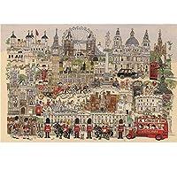HOSIYO 1000ピース ジグソーパズル アニメ 風景 パズル 景色 ゴッホ 名画 マイクロピース ジグソーパズル 魔法の城 マイクロピース ジグソーパズル マイクロピース 学生大人 減圧パズルmini puzzle (ロンドン, 50*75cm)