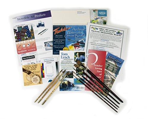 Silver Brush Tom Lynch Advanced Pro-Set di pennelli, legno,, confezione da 8