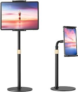 VIVI Mao Tablet Stand Holder, Universal Height Adjustable 360 Degree Rotation Aluminum Alloy Cradle Tablet Holder, Goosene...