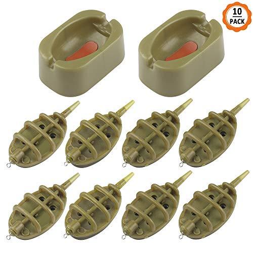 Inline-Methode Karpfenangeln Feeder 4 Feeder 15//20//25//35g 30//40//50//60g Form Set.