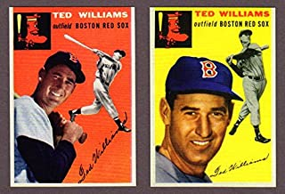 Ted Williams 1954 Topps #1 and #250 Baseball Reprints with Original Backs (Boston Red Sox)