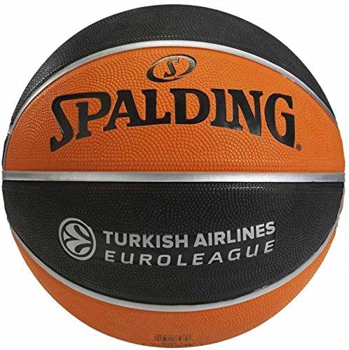 Spalding Europleague Balón de Baloncesto TF150 Replica Noir/Orange 5