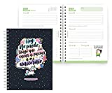 MIQUELRIUS - Agenda Escolar 2021-2022 - Tamaño PLUS 15 x 21,3 cm, Semana Vista, MissBorderlike Unicornio, Idioma Español
