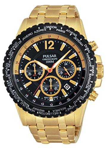 Pulsar chronograph - Reloj de cuarzo para hombre, correa de acero inox