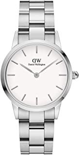 Daniel Wellington Japanese Quartz Watch with Stainless Steel Strap, Silver, 14 (Model: DW00100207)