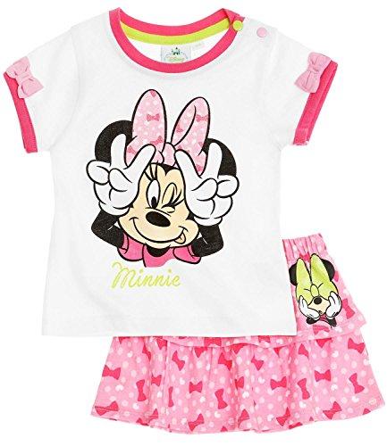 Ensemble jupe et T-shirt manches courtes bébé fille Minnie Blanc/rose de 3 à 24 mois (24 mois)