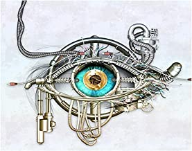 Beautiful Eye Steampunk Fine Art Print - 11x14 Unframed Print- Unique Gift for those with an interest in Optometry, Computer, Science Fiction, STEM. Dorm, Home, Classroom Inexpensive Decor Under $20