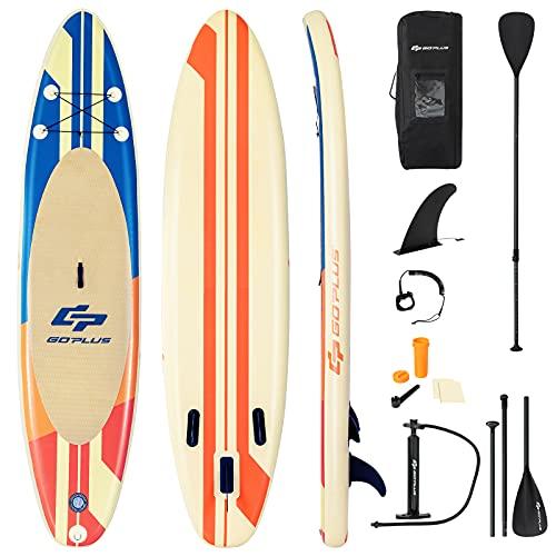 COSTWAY Tavola da SUP, Stand Up Paddle Board Gonfiabile, Surf Board Gonfiabile con Accessori Completo, Tavola da Surf Gonfiabile (335x76x15 cm)