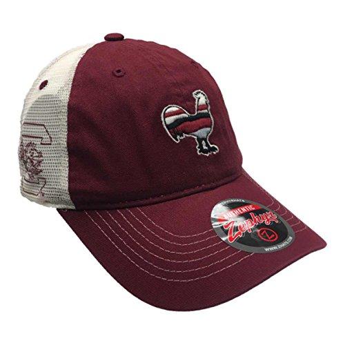 Zephyr South Carolina Gamecocks Garnet Rooster Silhouette Mesh Snapback Hat Cap