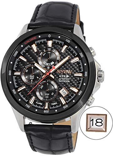 NYSW   La mayoría de Relojes Inteligentes híbridos de Lujo – Día mecánico – Cristal de Zafiro – Impresionante Segunda Mano y más (TC-NY-MH-04-W)