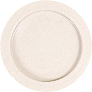 Maddak Inner-Lip Plastic Plate, Sandstone, 12-Pack (745310012)