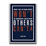JSC451 Today I Will Do What Others Won't So Tomorrow I Can Do What Others Can't Poster Words Running Figure   18-Inches by 12-Inches   Motivational Inspirational   Premium 100lb Gloss Poster Paper