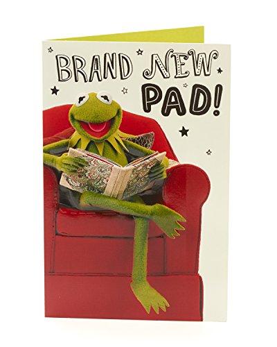 Hanson Blanc 345518–0-1 Disney Muppets Kermit The Frog Congratulations New Home carte