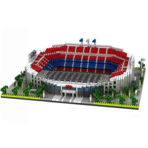 Bloques de construcción Estadio De Fútbol Arquitectónico De Fama Mundial, Juego De Bloques De Montaje De Ladrillos Camp Nou, Diy, Educación, Regalos