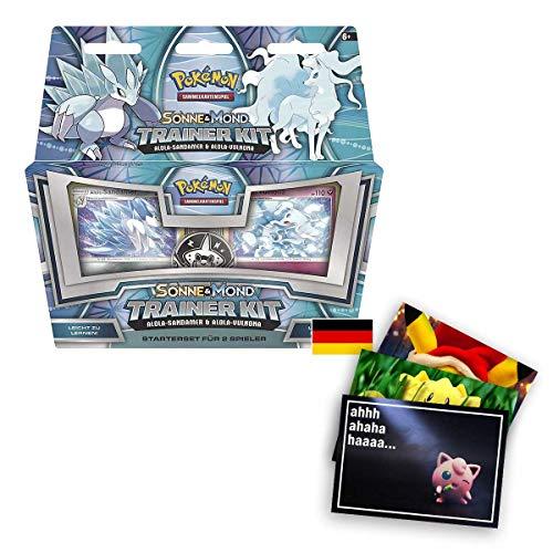 Lively Moments Pokemon Karten Trainer Kit Sonne & Mond Alola-Sandamer und Alola-Vulnona DE Deutsch Spielkarten