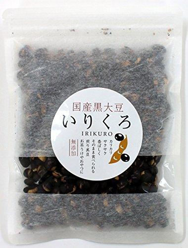 いりくろ 煎り黒豆 国産 120g 北海道産 100% そのまま食べる黒豆