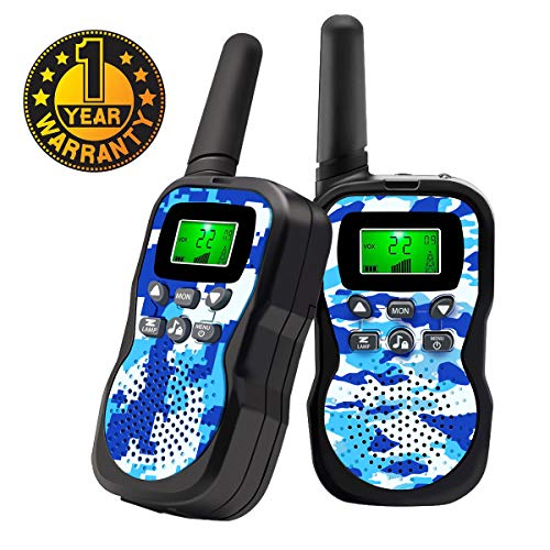 Image of Walkie Talkies For Kids , Range Up to 3 Miles With Backlit LCD Display And Flashlight Walkie Talkies For Boys Girls Outdoor Toys For 3-12 Year Old Boys Girls Bset Gifts For 3-12 Year Old Boys Girls
