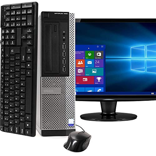 Desktop Computer Package Compatible With Dell OptiPlex 990, Intel Core i5, 16GB RAM, 2TB HDD, DVD, 20 Inch Monitor, Keyboard,...