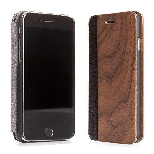 Woodcessories - Hülle kompatibel mit iPhone 5/ 5s / SE (2016) aus Echtholz - EcoFlip Case (Walnuss)