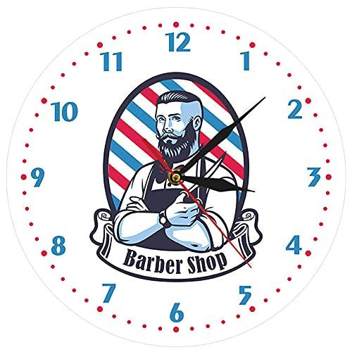 Orologio da Parete Parrucchiere, Design Moderno Negozio di Barbiere Segno Aziendale Studio Bellezza Salone per Parrucchieri Idea Donna o Uomo Arte a Tema Decorazioni Casa Regalo