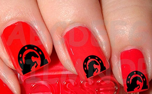 AWS Set Water Decals fer de cheval Stickers ongles Nail Art