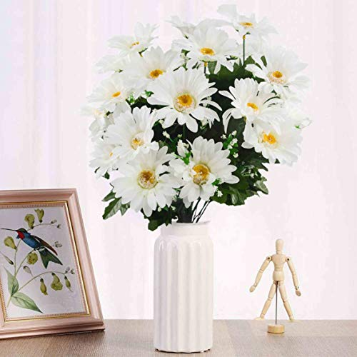 Herran Margarita Artificial Bouquet Decoración Decoración De Mesa Decoración Floral Decoración De Oficina 30 Flores